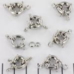 boeislotje - 12 mm zilver