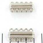magnetisch slot versierd - zilver 5 ringen