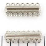 magnetisch slot versierd - zilver 7 ringen