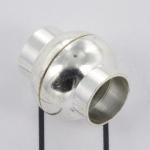magnetisch slotje supersterk voor veters - 8 mm gat lichtzilver