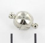 magnetisch slotje supersterk - 8 mm zilver