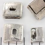 magnetisch slotje gesp versierd - zilver