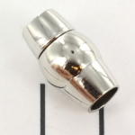 magnetic lock oval globe in the middle - silver 5 mm hole