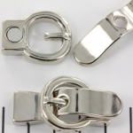 magnetic lock buckle - silver 2x9 mm holesize