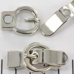 magnetisch slot gesp sluiting - zilver 2x9 mm gatgrootte