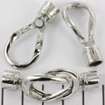 magnetisch slot knoopvorm - zilver 6 mm gatgrootte