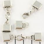 metalen kapje met slotje - zilver 12mm