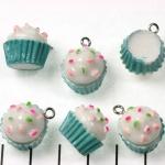 cupcake - blauw met wit