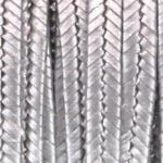 soutache 3 mm - antiek zilver metallic