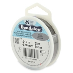 beadalon metal wire - 49 wires silver