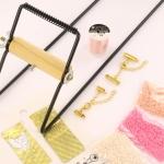 Starterspakket weven - roze met gouden slotjes