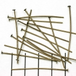 headpin antique brass - 40 mm
