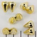 studs 15 mm hoog - 2 spikes goud