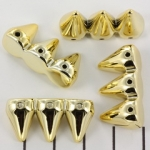 studs 15 mm hoog - 3 spikes goud