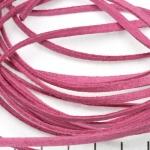imitatie suède veter - licht fushia roze