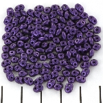 superduo 2.5 x 5 mm - metallic suede purple