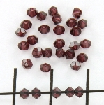 swarovski facet 3 mm - burgundy