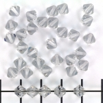 swarovski bicone 6 mm - shadow crystal