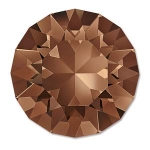 swarovski chaton ss39 8mm - smoked topaz foiled