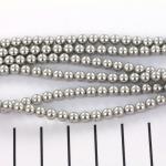 Swarovski pearls 4 mm - light grey
