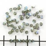swarovski xilion bicone 3 mm - black diamond ab