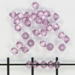 swarovski xilion bicone 3 mm - light amethyst
