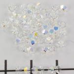 swarovski facet 3 mm - crystal ab