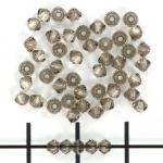 swarovski xilion bicone 3 mm - greige