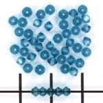 swarovski xilion bicone 3 mm - indicolite blue