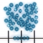 swarovski xilion bicone 3 mm - indicolite blauw