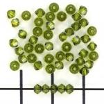 swarovski xilion bicone 3 mm - olivine