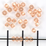 swarovski xilion bicone 3 mm - light peach