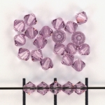 swarovski xilion bicone 4 mm - light amethyst