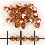 swarovski xilion bicone 4 mm - crystal copper