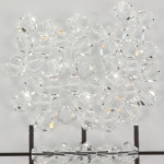 swarovski facet 4 mm - crystal