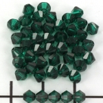 swarovski facet 4 mm - emerald