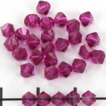 swarovski facet 4 mm - fuchsia