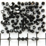 swarovski facet 4 mm - hematite