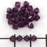 swarovski facet 4 mm - amethyst