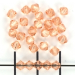 swarovski xilion bicone 4 mm - light peach