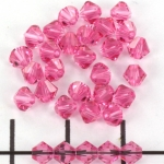 swarovski facet 4 mm - roze