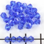 swarovski facet 4 mm - sapphire