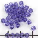 swarovski facet 4 mm - tanzanite