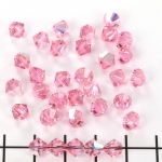 swarovski xilion bicone 6 mm - light rose ab