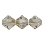 swarovski xilion bicone 3 mm - crystal golden shadow