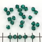 swarovski facet 6 mm - emerald