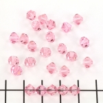 swarovski facet 6 mm - light rose