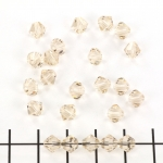 swarovski facet 6 mm - light silk