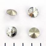 swarovski rivoli 12 mm - silver shade
