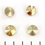 swarovski rivoli 12 mm - crystal golden shadow